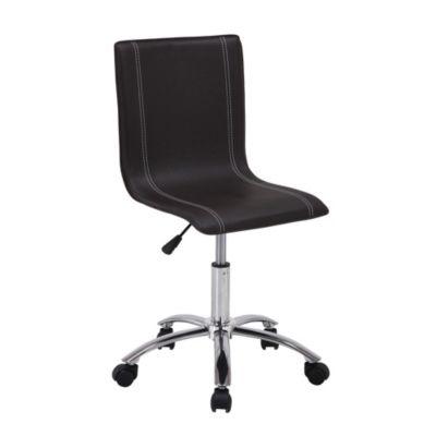 Silla escritorio sin brazos negra