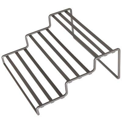Organizador expandible 3 niveles gabinete cocina cromado