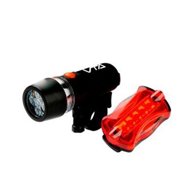 Linterna Bicicleta 5 Led y Luz Posterior