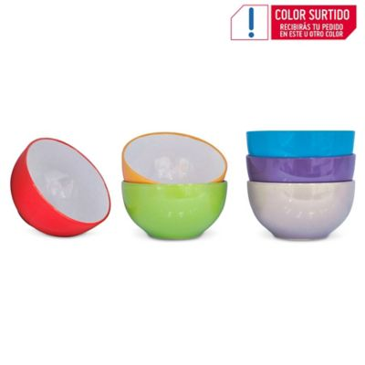 Bowl Bicolor 14 Cm Colores Surtidos