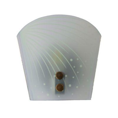 Lámpara Decora para Pared Anticada 1 Luz 60w Rosca E27  Vidrio Lluvia
