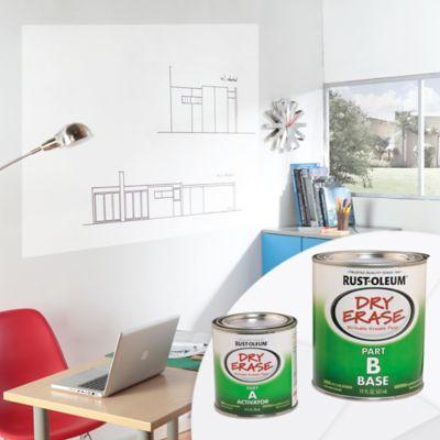 Kit Pintura para Tableros Marcador Borrable Blanco 473ml