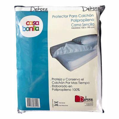 Protector para Colchón Sencillo 100x190 cm Polipropileno Blanco