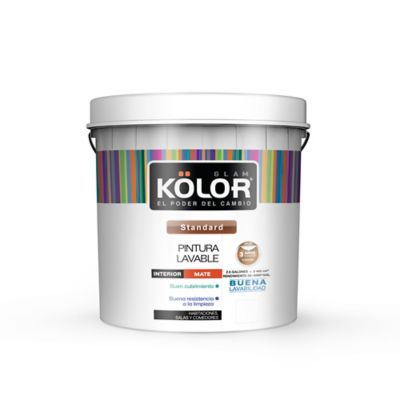 Pintura para Interior Lavable 2.5 Galones Blanco