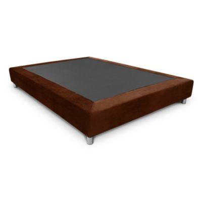 Base Cama Porto Completa Semidoble 120x190 cm Chocolate