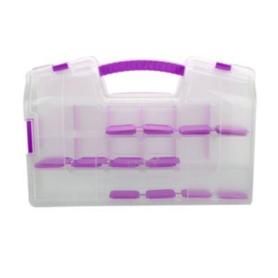 Caja Doble Plegable 37,4x8,5x25 cm Natural Violeta