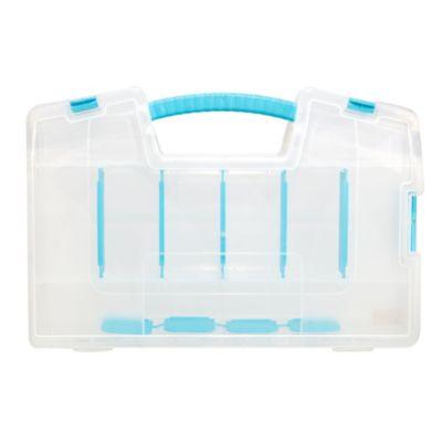 Caja Doble Plegable 37,4x8,5x25 cm Natural Azul