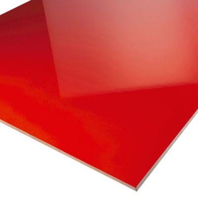 Mdf Super Rojo Brillante 18mm 122x244cm