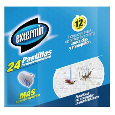 Exterminador pastillas caja x 24 gratis aparato eléctrico