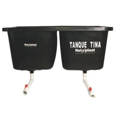 Tanque Tina Doble 700 Litros (350x2) Negro c/acc