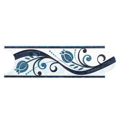 Listelo Roleo Azul 8X25cm