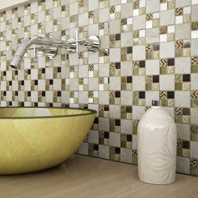 Mosaico Cerámico Turan 30x30 Centímetros Beige