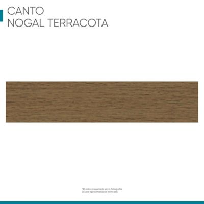 Canto flexible 19mmx100cm Nogal terracota
