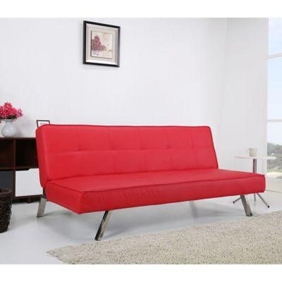 Sofácama Niza 179 x 94 x 76 cm Rojo