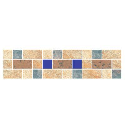 Cenefa Vera Azul 7.3X29.8cm