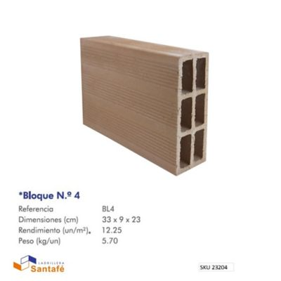 Bloque # 4 33 x 23 x 9 cm 12,5 u/m2