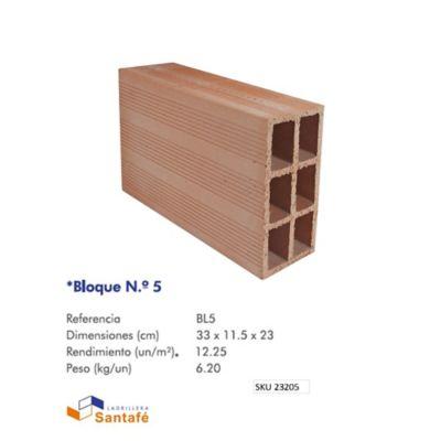 Bloque # 5 33 x 23 x 11,5 cm 12,25 u/m2