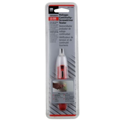 Tester Voltaje y Continuidad 12-250 vac/dc