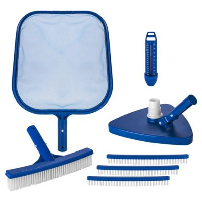 Kit Limpieza Piscina Con Limpiafondo Red  Escobill