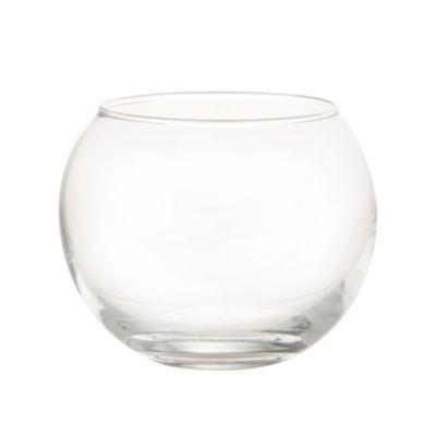 Pecera Vidrio Burbuja Redonda