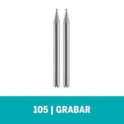 Set Fresa Para Grabado 105 1/32-pulg (0,8mm) x 2und
