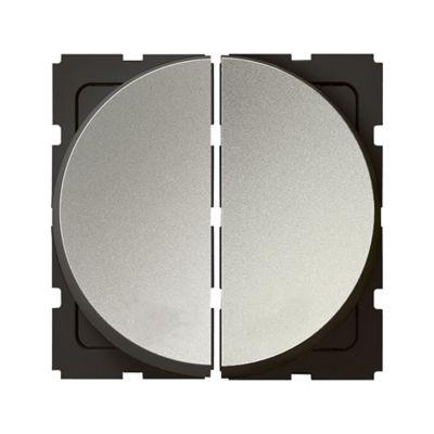 Interruptor doble redondo arteor magnesio