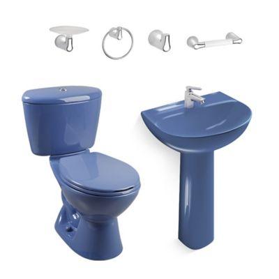 Combo Manantial con pedestal en caja Azul claro