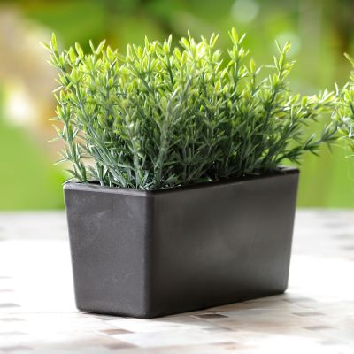 Planta artificial larga pasto 14.5 x 6.5 x 15 cm
