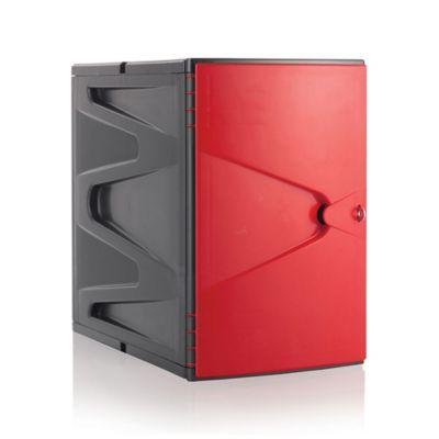 Locker Plástico Modular 0.45 m Rojo
