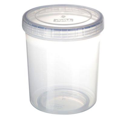 Recipiente redondo tapa rosca 1 litro