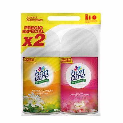 Repuesto aerosol x 2 vainilla-floral ahorre 20%