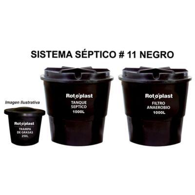 Kit Séptico Tanque 1000 + Anaerobio 1000 + Trampa 250