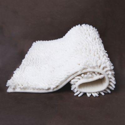 Tapete para Baño Shaggy 43x61 cm Elite Marfil