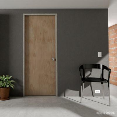 Puerta Lista 70x204 cm Okume - Ap. Izquierda