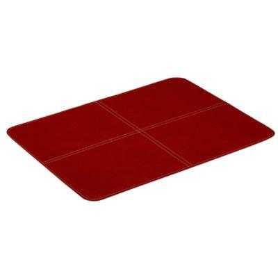 Individual de Líneas Cruzadas Rojo