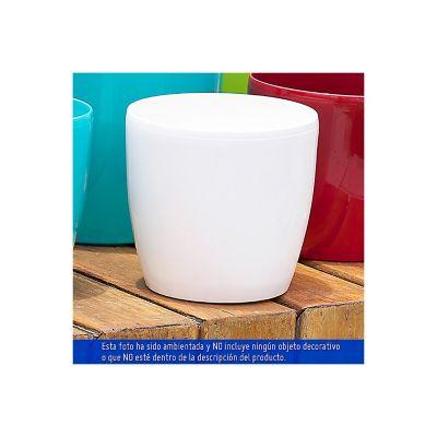Maceta Roto Brillante Blanca 18 cm  x  17 cm