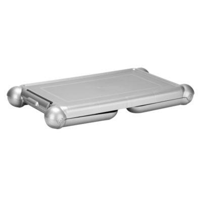 Mesa Plástica para Portátil Gris Metalizado 34.5x27x67cm