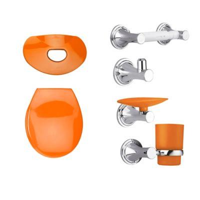 Kit Happy Tapa y Accesorios Color Naranja