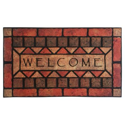 Tapete Caucho Welcome Stones 45x75 cm