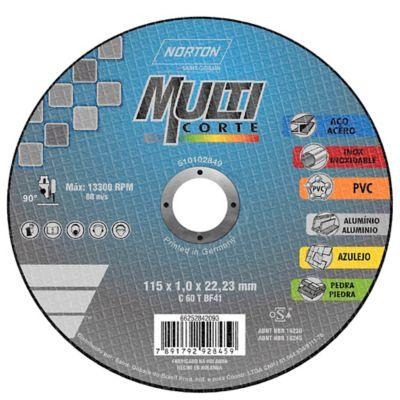 Disco Abrasivo Multicorte 4 1/2 X 1mm pulgada 66252842093