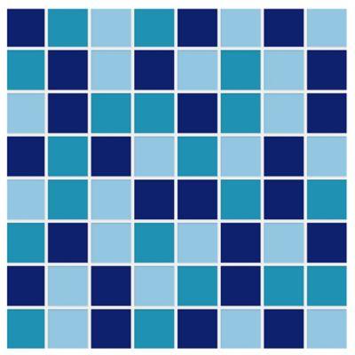 Base Cerámica Decorada para Baño Dallas 31.5x31.5 Centímetros Azul