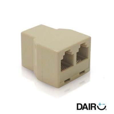 Adaptador Modular 1 A 2 Tomas Telefónicas P/Cable