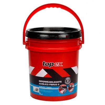 Topex Acrilico 5 5Gal 23.5kg Gris