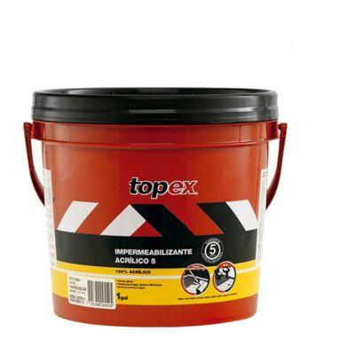 Topex Acrilico 5 1Gal 4.7kg Gris