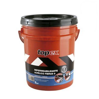 Topex acrilico 8 5gl 23.5kg gris