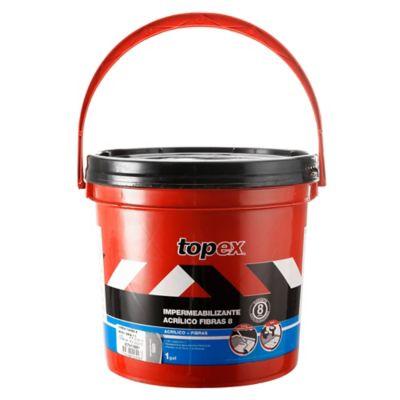 Topex Acrílico 8 1gl 4.7kg Gris