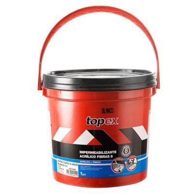 Topex Acrilico 8 1Gal 4.7kg Blanco