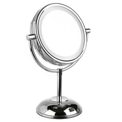 Espejo De Pie Cosmetico Acero Doble