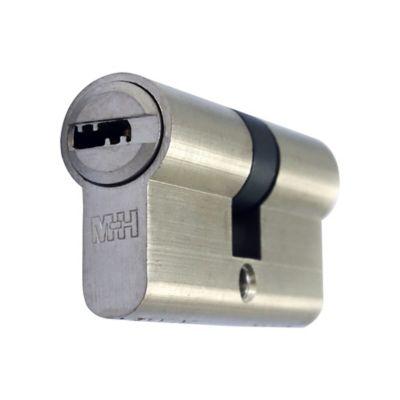 Cilindro Seguridad Niquel Perfil Europeo 5 Llaves