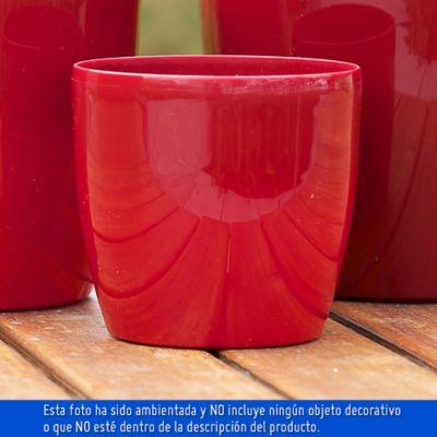 Maceta Roto Brillante Rojo 14X12.5Cm